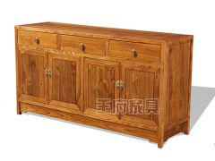 素面老榆木备餐柜WF备餐柜001