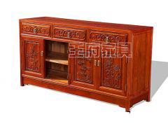 雕花老榆木备餐柜WF备餐柜002