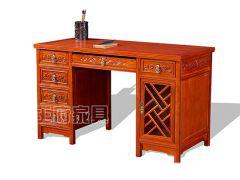 一米三老榆木电脑桌