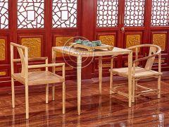 现代免漆老榆木茶桌