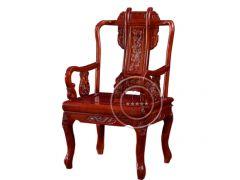 老榆木雕花扶手椅WF餐椅001
