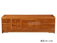 老榆木素面电视柜