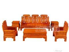 香河中式老榆木家具沙发批发