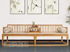 新中式免漆罗汉床