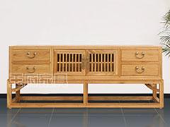 新中式榆木电视柜