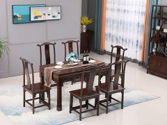 饭店用榆木中式餐桌椅
