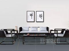 新中式酒店售楼处沙发卡座