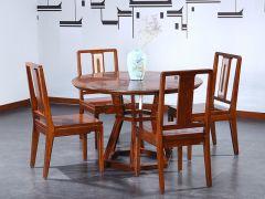 新中式老榆木圆餐桌