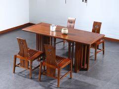 老榆木长条桌椅