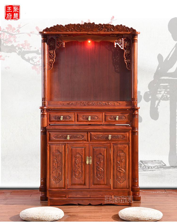 木工做放财神的柜子图片大全
