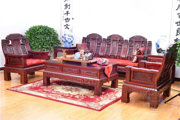 北京老榆木沙发六件套-王府老榆木家具厂家