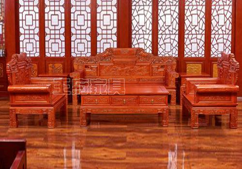 河北老榆木家具沙发六件套款式欣赏