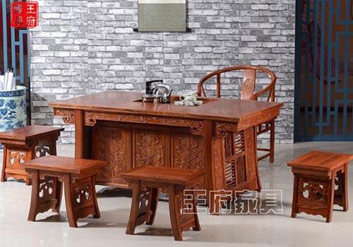 香河老榆木茶桌家具让您流连忘返