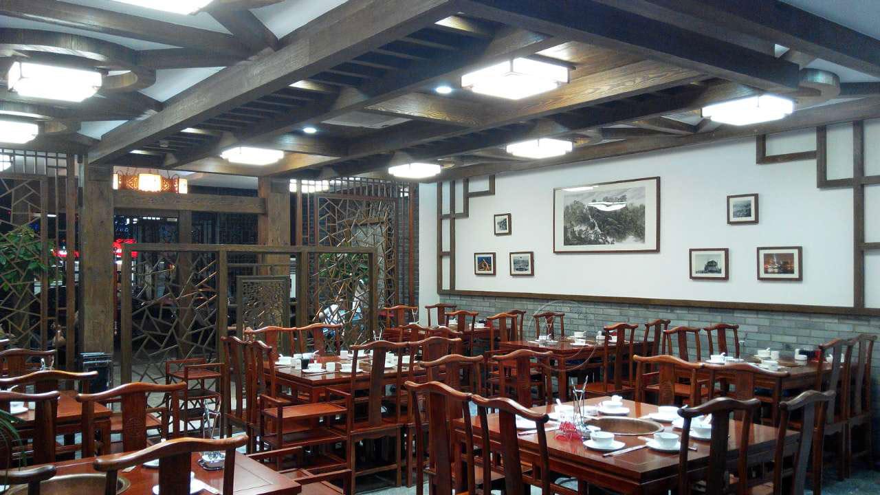 北京老榆木长条火锅餐桌厂家定制